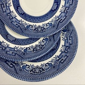 Vintage Churchill England Blue Willow China Set